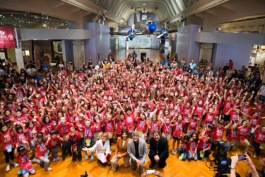 A group shot of the 437 student inventors at the National Invention Convention and Entrepreneurship Expo.