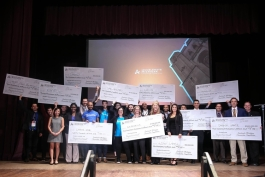 Winners at last year's Accelerate Michigan competition.