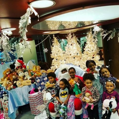These children are among 140 who received free Christmas presents last year from Joyful Treats.