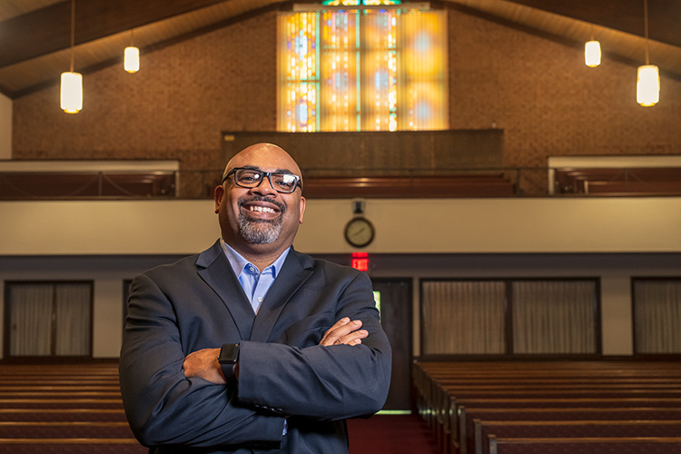 Pastor George Waddles at Second Baptist Church