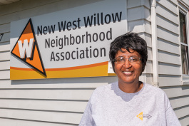 New West Willow Neighborhood Association Presdient Jo Ann McCollum