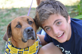 Humane Society of Huron Valley junior volunteer Zach Weiner.