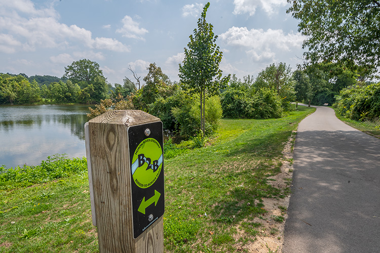 The Border-to-Border Trail at Gallup Park