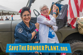 Jeannette Gutierrez and Virginia Basler at Thunder Over Michigan