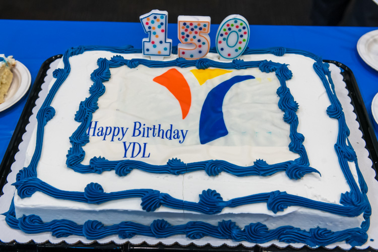 Anniversary festivities at YDL's Whittaker Road branch.