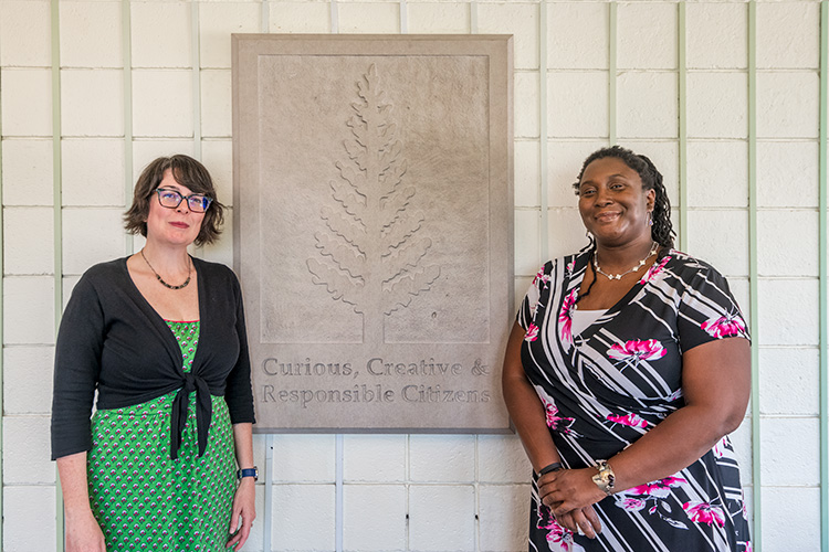 Greenhills School teachers Kelly Williams and Nadine Hall