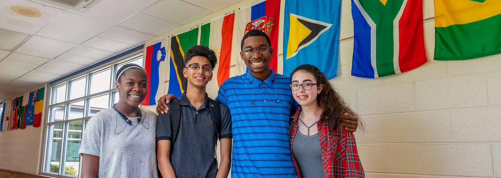 WiHi students Karis Hawkins, Hamza Hussain, Chase Wilder and Adi Orlyanchik