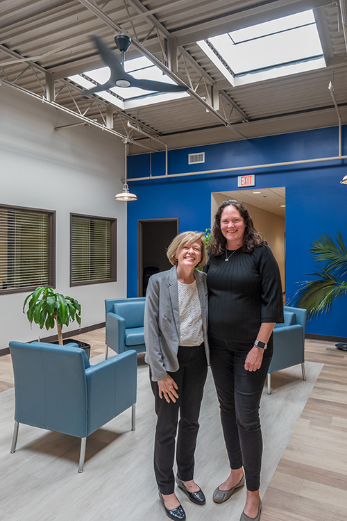 Ann Routt and Alyson Robbins at the Smith Furniture Building