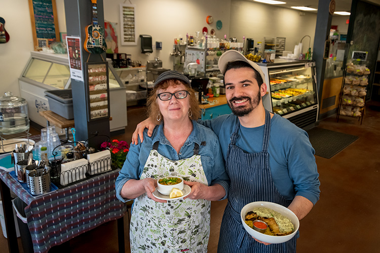 El Harissa Market Cafe co-owner Susan Thomas and her son Yusef Houamed
