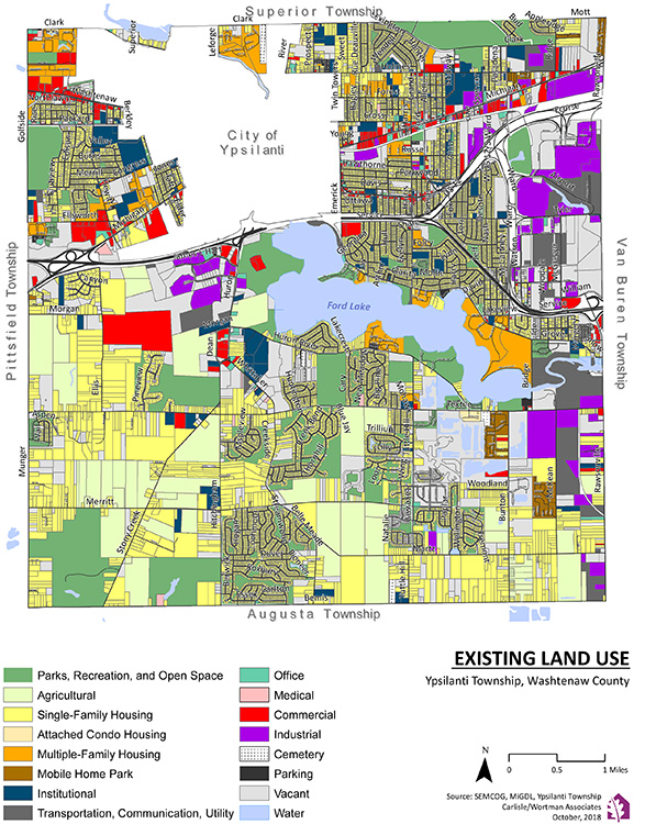Existing land use in Ypsilanti Township