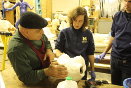 LiquidGoldConcept staff make their first cast of the Lactation Simulation Model.
