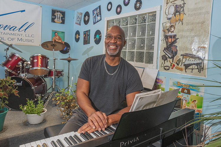 Maurice Stovall Sr., chair of the Gault Village Neighborhood Association at his School of Music