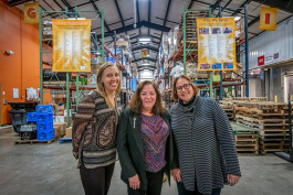 Aubrey Patino, Eileen Spring and Ellen Rabinowitz at Food Gatherers