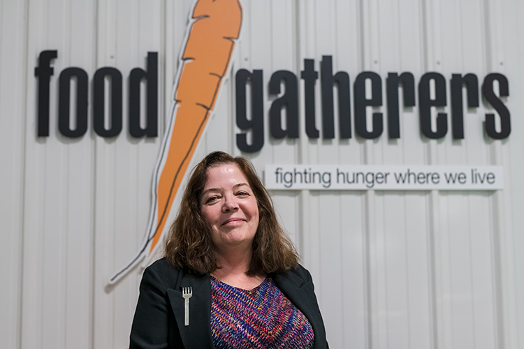 Food Gatherers president and CEO Eileen Spring