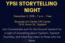 Ypsi Storytelling Night flyer