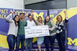 Winners of the 2017 Michigan Business Challenge, one of U-M's programs for entrepreneurship students.