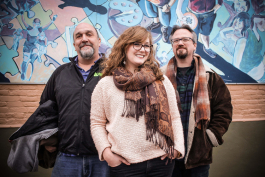 Joey Albright, Anna Simmons, and Joseph Zettelmaier are the team leading Roustabout Theatre Troupe's 2019 season at the Ypsi Experimental Space.