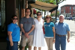 National Main Street Center representatives visit Howell last year (Howell Main Street COO Cathleen Edgerly pictured second from right).