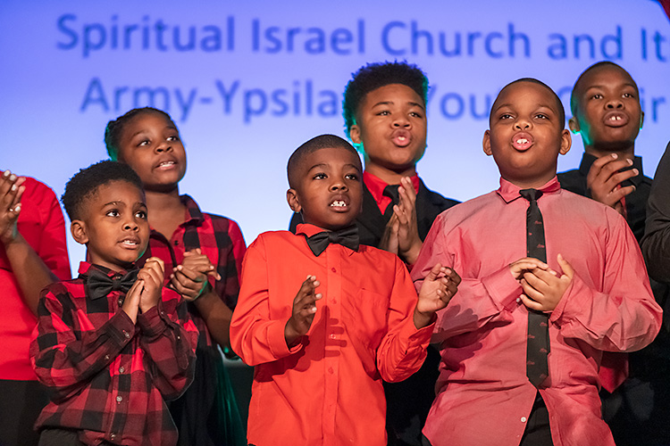 The Spiritual Israel Church and Its Army-Ypsilanti Youth Choir at the inaugural MLK Gospel Fest