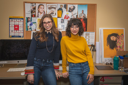 Serena Pergola and Liv Velarde at the SHEI offices