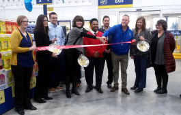 The ribbon cutting ceremony at Ypsilanti Township's Restaurant Depot.