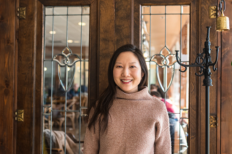 Songbird Cafe owner Jenny Song