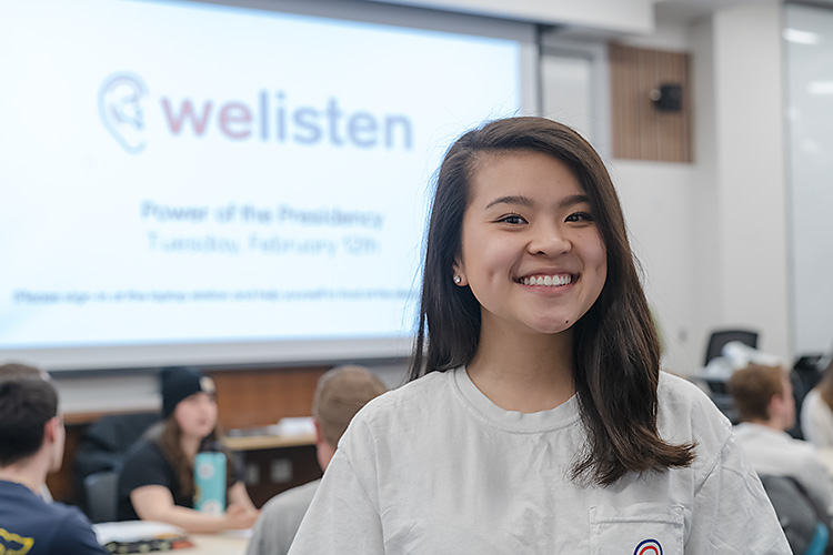 WeListen's VP of outreach Evon Yao