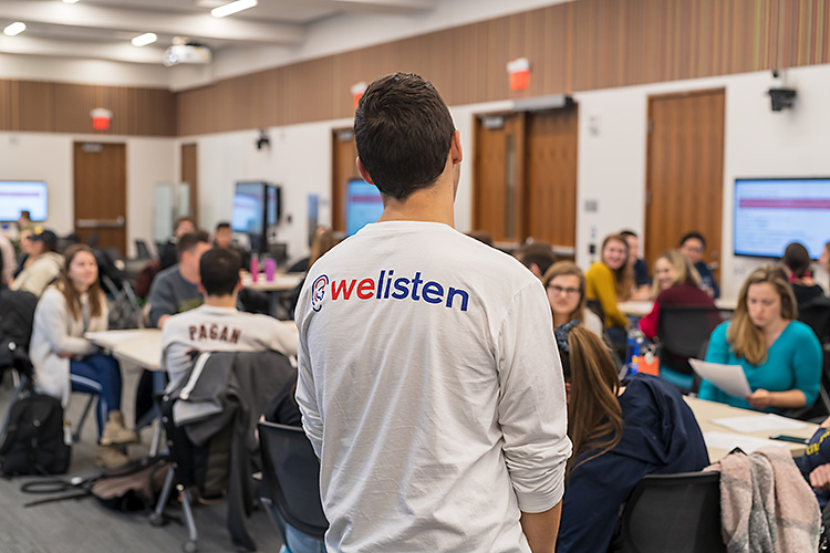 A WeListen group discussion at U of M
