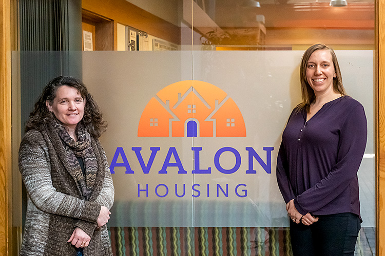 Wendy Carty-Saxon and Aubrey Patiño at Avalon Housing