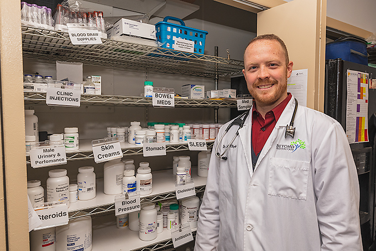 Dr. Jeff O'Boyle offers in house prescriptions at Beyond Primary Care.