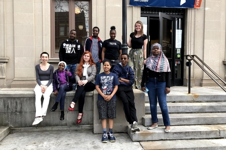 Members of the Ypsilanti District Library's Teen Advisory Group.