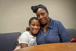 Niyah Carr with her mother Nikia Smith