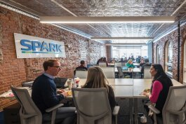 SPARK East's remodeled space.