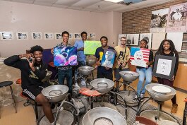 YCS art and photography students at Ypsilanti Community High School.
