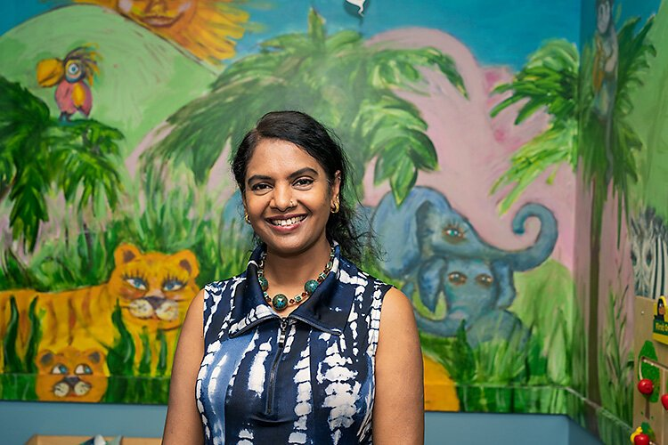 WIC service coordinator and breastfeeding coordinator Gayathri Akella at the Washtenaw County WIC office.