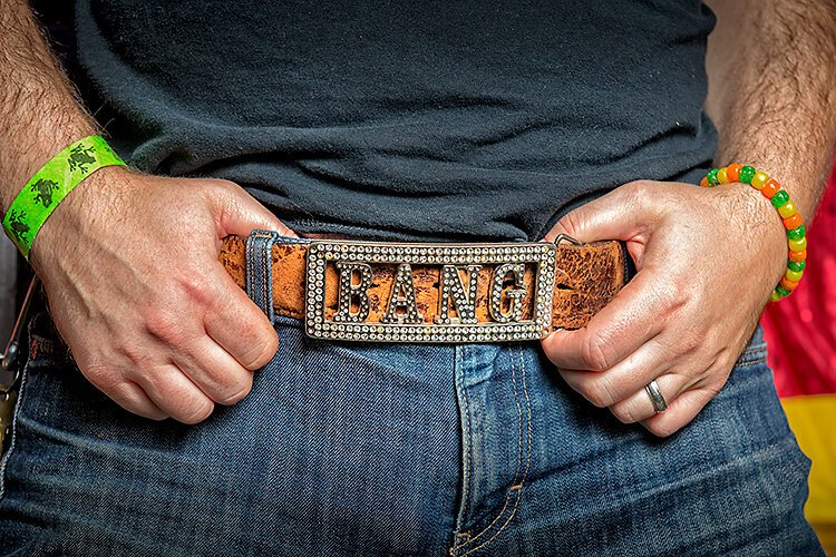 Cool beltbuckles are always in fashion at The Bang!