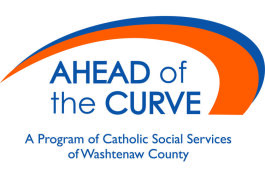 Ahead of the Curve logo.