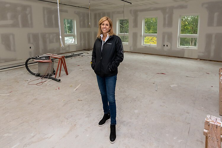 Ozone House marketing and communications manager Heidi Ruud at the future Ozone House location in Ypsilanti.