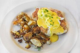 Zingerman's Roadhouse eggs benedict with Newsom's country ham.