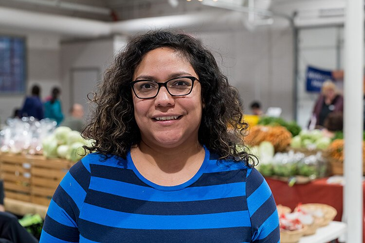 Growing Hope's incubator kitchen manager Elisa Marroquin at Robert C. Barnes Sr. Marketplace Hall.