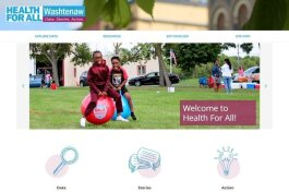 The Health for All Washtenaw website.
