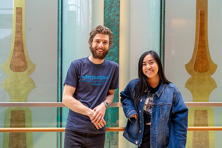 Jeff Sorensen and Kirsten Lam of optiMize.