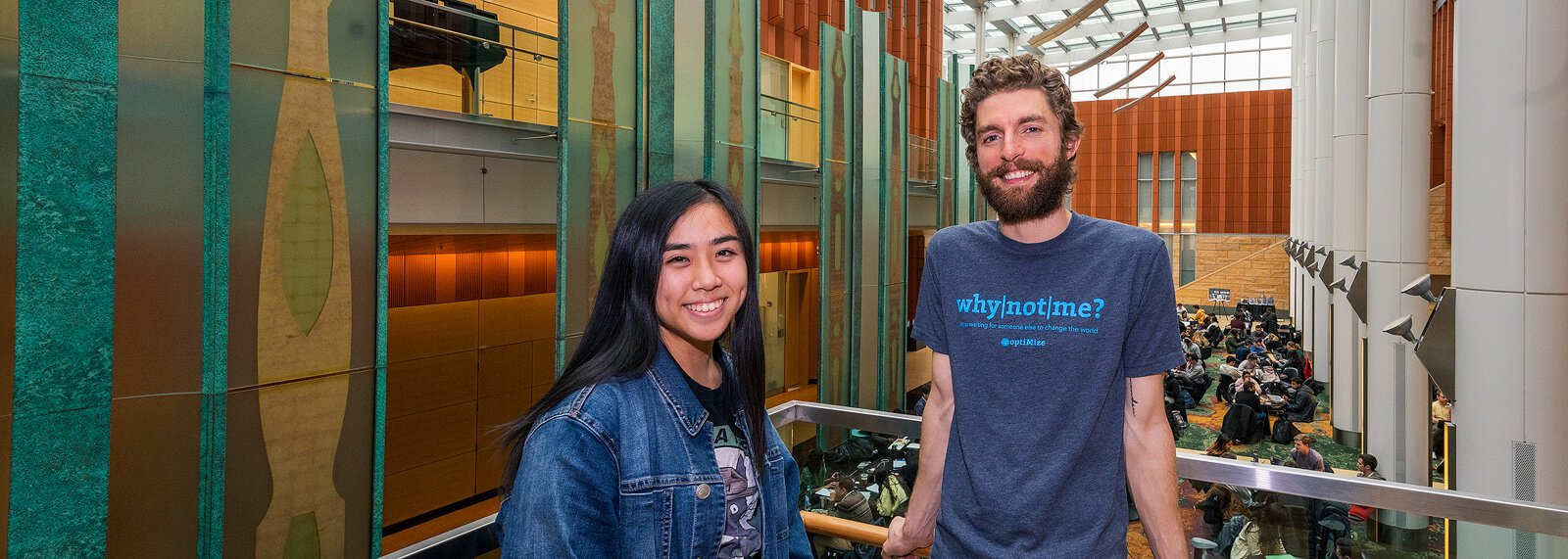 Kirsten Lam and Jeff Sorensen of optiMize.