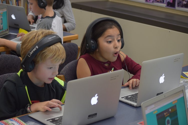 Lakewood Elementary students during last year's Hour of Code.