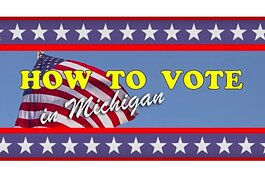 "A screenshot from a ""How to Vote in Michigan"" video."