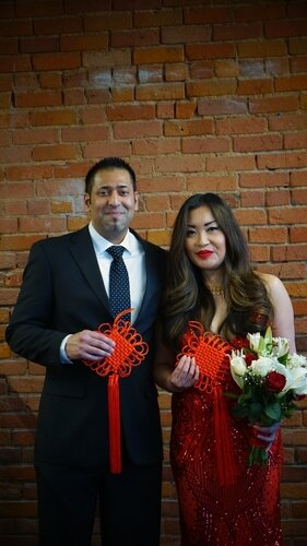 Nish Stein and Millie Chu were married at Back Office Studio.