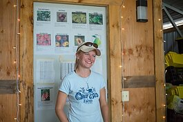 Amanda Sweetman is a farmer at The Farm at St. Joe's, which won grant funds to build a hoop house.