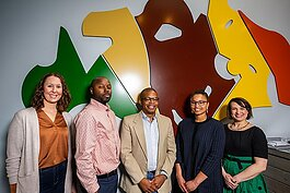 CultureMakers' Megan Winkel, Jamall Bufford, Omari Rush, Avery Williamson, and Jillian Rosen.