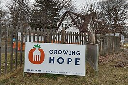 Growing Hope's farmhouse.