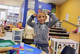 A child at one of Washtenaw ISD's affiliated partners' early education centers.